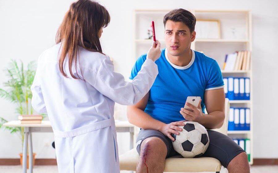 Commotion cérébrale légère après traumatisme au sport